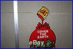 Large Sherwin Williams Paint Cover Globe Porcelain Sign Gas Oil Farm Barn