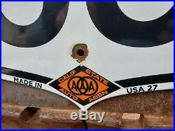 Large Vintage 1927 California U. S. Route 66 Porcelain Road Sign Highway Sign
