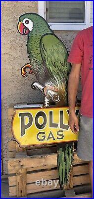 Large Vintage Polly Gasoline Porcelain Metal Sign 60 Make Offer