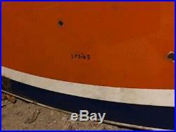 Large single-sided Gulf porcelain gas station sign 1965 6' x 7