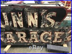 Lunns Garage And Upholstery Neon Sign Not Porcelain Gas And Oil