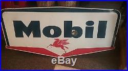 Mobil Oil Pegasus Porcelain Sign 58 x 30 gas station soda cave coca cola pepsi