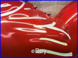 Mobil Oil embossed porcelain pegasus