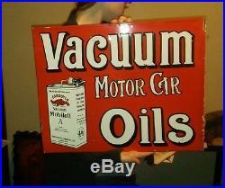 Mobile Oil Porcelain Flange Sign