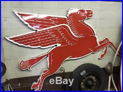Mobilgas Cookie Cutter Flying Horse-9 Ft X 70-ORIGINAL PORCELAIN 1958-BUY NOW