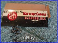 N. O. S. Bowes Battery Cables Tin Sign with Correless Terminals, Not Porcelain