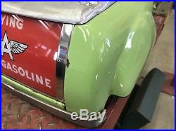 National A 62 Green Porcelain Gas Pump Top, Gas And Oil, Chevrolet And Ford