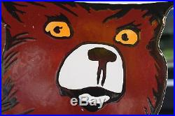 Neat 48 Smokey The Bear Porcelain Die Cut Sign Forest Ranger Parks Gas Oil 66