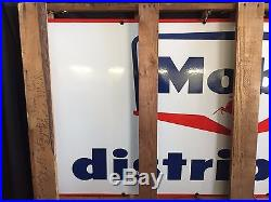 NewithOld Porcelain Mobil Distributor Sign One Sided Original New Old Stock