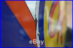 OK Chevrolet Cars NOS PORCELAIN DEALERSHIP SIGN 2 sided Gas Oil Staiton Advert