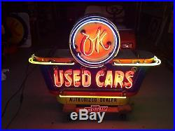 Ok Double Sided Porcelain Neon Dealership Sign