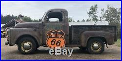 OLD ORIGINAL 30 PHILLIPS 66 PORCELAIN DOUBLE SIDED SIGN With RARE BRACKET GAS OIL