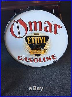 Omar Ethyl Gasoline Porcelain Sign 30