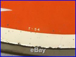 ORIGINAL 1954 Vintage MOBIL PEGASUS Cookie Cutter PORCELAIN Oil Gas Station Sign