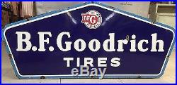 ORIGINAL B. F GOODRICH PORCELAIN TIRE advertising sign TEXACO POLE bracket