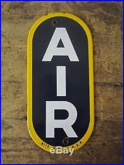 Original Nos Sunoco Air Meter Porcelain Sign Gas Station Eco Gilbarco