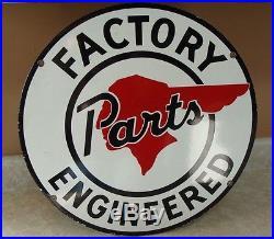 Original Used Cars Pontiac Gmc Chevrolet Dealership Vintage Porcelain Sign