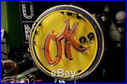 Old Chevrolet Used Car OK porcelain neon sign