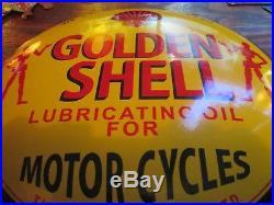 Old Original OILZUM MOTOR OILS LUBRICANTS CONVEX PORCELAIN METAL SIGN