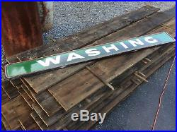 Old Original Sinclair Gas Station Porcelain Washing Advertising Sign Pump Can