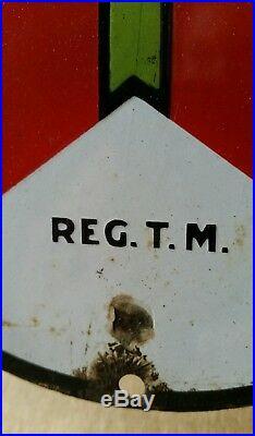 Old Original Texaco Porcelain Pump Plate Lubster Sign
