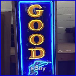 Old Porcelain Goodyear or Firestone Neon Sign 8' Your Choice! VIDEO
