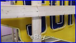 Old Sunoco Porcelain Sign with Neon & Flashing Arrow 8 FT W x 6 FT H