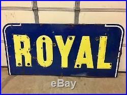 Old U. S. Royal Tires Porcelain Steel Sign with Neon 72x34