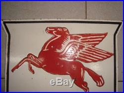 Old vintage Porcelain Enamel Mobil Gas Sign board from USA 1930