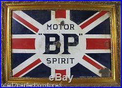 Orig 1920-30s Porcelain'BP' BRITISH PETROLEUM MOTOR SPIRIT Sign'Best Possible
