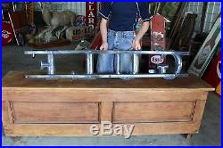 Original 1950's Porcelain Gulf Gas station letters sign With the Bracket Nice