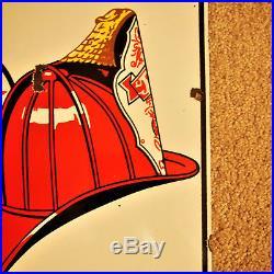Original 1953 TEXACO Fire Chief Gas Pump Plate Porcelain Sign, Gas & Oil, vintage