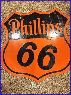 Original 30 Phillips 66 Porcelain Gas Oil Sign