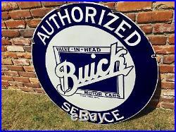 Original 42 Buick Porcelain Automotive Sign