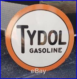 Original 42 Tydol Gas Station Porcelain Sign