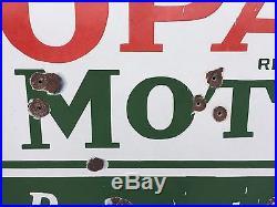 Original 6ft Sinclair Opaline Motor Oil Single-sided Porcelain Sign