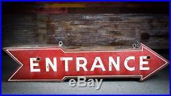 Original Car Dealership Entrance Arrow Porcelain Gas Oil Neon Sign ROUTE 66