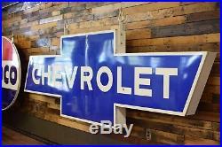 Original Chevrolet Porcelain Dealership Sign 1950's RARE 12ft Bowtie Super Chevy