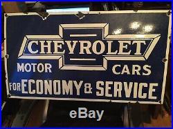 Original Chevrolet Service Porcelain Sign