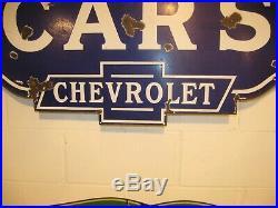 Original Chevrolet Used Cars Porcelain Sign