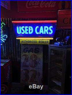 Original Chevy OK Used Cars porcelain neon sign FREE SHIPPING