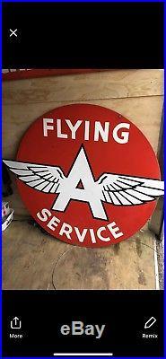 Original Dye Cut Double Sided Porcelain Flying A Sign Tydol Associated RARE