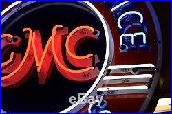 Original GMC TRUCKS Sales&Service Large Porcelain Advertising Neon Sign 42