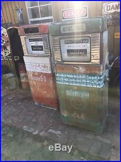 Original Green Cities Service Gas Pump Wayne Model 505 Not Porcelain Sign