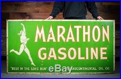 Original Marathon Motor Oil Porcelain Sign