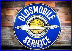 Original Oldsmobile Service Porcelain Dealership Sign 60