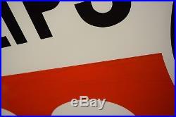 Original Phillips 66 Porcelain Sign 48 NOS with Frame Gas Oil Station Advert