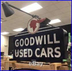 Original Pontiac Dealership Porcelain Sign Non Neon Light Up