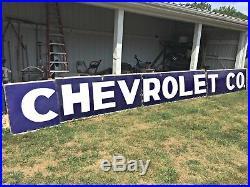 Original Porcelain Chevrolet Dealership Sign