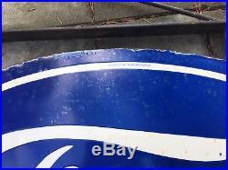 Original Porcelain Ford Dealer Sign With Original Bracket fomoco Shelby rotunda